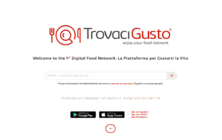 homepage trovacigusto launch